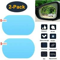 2Pcs Car Rear Mirror Waterproof Film Side Window Glass Films Anti-Fog Rain-Proof