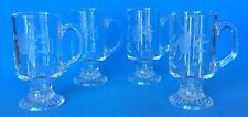 Set of 4 Princess House - HERITAGE - TEMPERED GLASS COFFEE / TEA MUGS Irish Mug