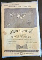 Vintage 1950s Aunt Lydia's Punch Needle Rug Canvas Pattern ~ Butterfly #643