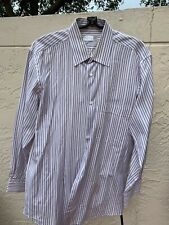 GUCCI STRIPED CLASSIC MENS BUTTON DOWN SHIRT SZ 44""