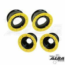 LTR 450 LTZ 400  Front  Rear Wheels  Beadlock 10x5  8x8  Alba Racing  bk/yl 41