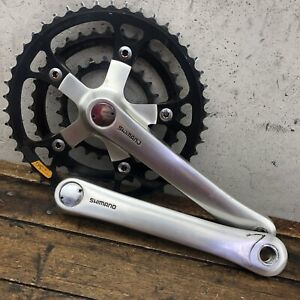 Shimano Deore XT Crank Set FC-M730 175mm Black Chainrings Vintage MTB Pantograph