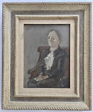 FRANKLIN C WATKINS (1894-1972) SIGNED OIL PAINTING (BROOKLYN MUSEUM LABEL-BACK)