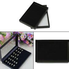 100 Jewelry Ring Display Organizer Case Tray Holder Earring Velvet Storage Box d