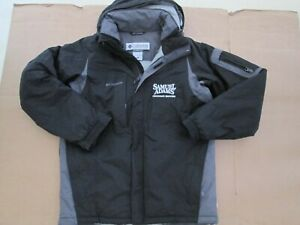 Mens  COLUMBIA insulated waterproof full zip hooded coat S Sm Sam Adams Brewery