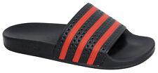 Adidas Originals Adilette Mens Slip On Black Red Flip Flops Sliders UK 7 EU 40.5