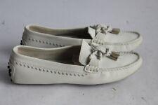 TOD'S mocassins cuir blanc chaussures femme T36 (40847)