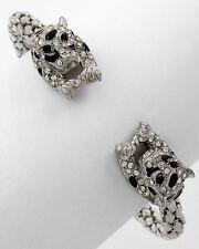 Leopard Exotic Wild Cat Feline Jungle Safari Crystals Beautiful Bracelet #94-E