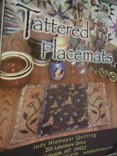 Tattered Placemats Quilt Sewing PATTERN -Judy Niemeyer Quilting 16x22 Inches