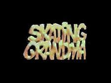 Goldtone Skating Grandma Lapel Pin - Brilliant Shine