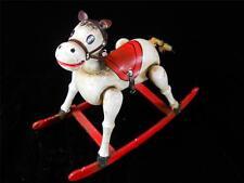 VINTAGE ENESCO MUSICAL WOODEN ROCKING HORSE 1979