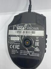 New listing Razer Naga Chroma Wired Mouse Rz01-0161 Free Shipping, Damaged Left Clock, Works