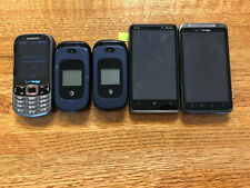 Cell phone lot of 5 smartphones, sliders