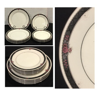 VINTAGE Noritake Ivory China Dinner & Salad Plates ETIENNE #7260 Japan 10-PC Set