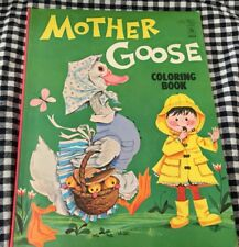 VINTAGE MOTHER GOOSE COLORING BOOK 1964 80 PAGES TO COLOR PRINTED IN FINLAND