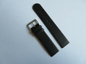 Uhrband Leder schwarz 20 mm zum Anschrauben für z.B. SKAGEN BERING BOCCIA OBAKU