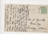 Powburn Alnwick Single Ring Postmark 6 Nov 1908 461b