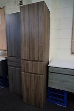 1680mm Walnut Oak Timber Wood Grain Bathroom Tall boy Side Cabinet PVC Thermofoi