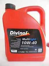 Divinol Multilight 10W-40 Motorenöl Öl 5L Mercedes MB 5 Liter VW Opel BMW JASO 5