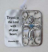 v Trust in the Lord with all your heart cross SCRIPTURE ORNAMENT GANZ hospice