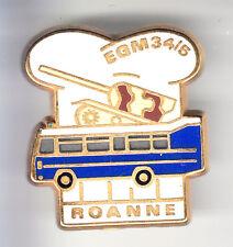 RARE PINS PIN'S .. GENDARMERIE EGM 34/5 TANK BLINDE CAR BUS RENAULT ROANNE 42~CN