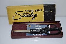 Vintage Stanley Cutlery Corp Pinking Shears Precision Made w Original Lined Box