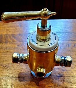 Antique Porcelain And Brass Shower mixing valve