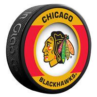 Chicago Blackhawks NHL Team Logo Retro Souvenir Hockey Puck