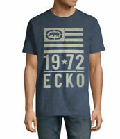 NWT ECKO UNLTD. AUTHENTIC MENS NAVY MARLED CREW NECK SHORT SLEEVE T-SHIRT M L XL