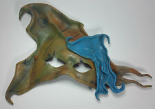 JOMA Leather Mask Signed Stretched Cosplay Masquerade Renaissance Halloween