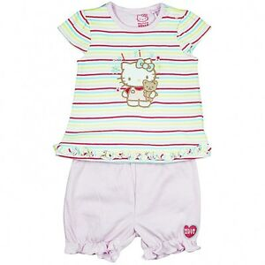 Baby Girls Hello Kitty Striped Top & Pant Set