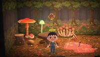 Animal Crossing New Horizons Mushroom Mush Set Room Furniture + Recipe DIY