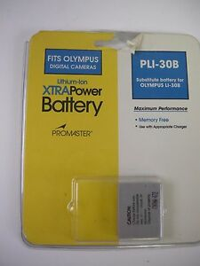 Promaster PLI-30B replacement Battery for Olympus 3.6V 700mAh