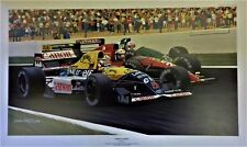 Nigel Mansell 77 x 48  cms limited edition F1 GP art print by Colin Carter