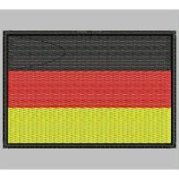 Parche Bordado Bandera de ALEMANIA / Embroidery patch Flag OF GERMANY