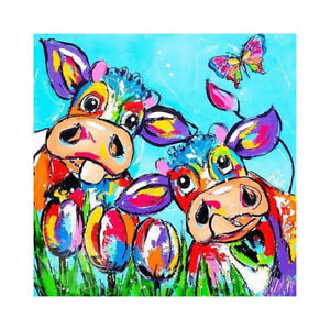 DIY 5D Diamond Embroidery Painting colorpainting cow Cross Stitch Decors Craf.fr