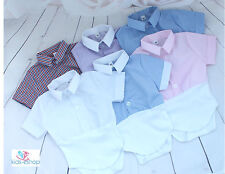 Baby Boy Outfit Smart Shirt Style Bodysuit Body Shirt Short Sleeve 0M- 3 Years