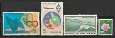 N - Corée du Sud  4 timbres