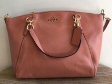 NWT Coach Melon Pebble Leather Small Kelsey Satchel Crossbody Bag