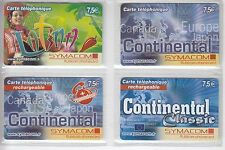4 TELECARTE / PHONE CARD .. FRANCE PREPAYEE SYMACOM RUBICOM MIX  DIFFERENTS A4
