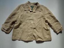 Ralph Lauren Women's Linen Lined Jacket Button Coat Blazer Light Brown Size XL