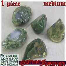 1 Medium 20mm Free Ship Tumbled Gem Stone Crystal Natural - Rainforest Rhyolite