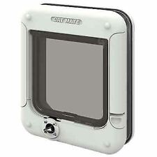 Cat Mate Locking Cat Flap in White with 4 Way Lock & Different Sets