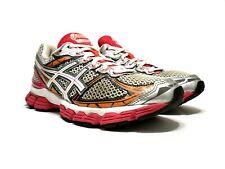 Asics Women's GT 3000 v2 Running Athletic Shoe Size 7 White/Gray/Orange/Pink