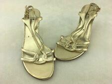 Stuart Weitzman Reversal Gold Supple Kid Slingback Sandal Size 6M  B1227/