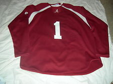 Alabama Crimson Tide #1 HOCKEY Jersey,Adult Large, CUSTOMIZE $17 SEWN LETTERING