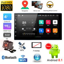 "Android 8.1 Car Radio Stereo MP5 Nav Quad Core 3G WIFI 7"" Double 2DIN Player"