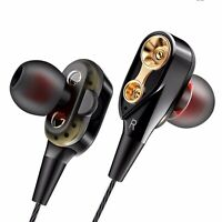 HIFI 3.5mm Headphone Super Bass Headset Wired In-Ear Earphone Stereo Earbuds