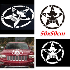 Car SUV Skeleton Skull Decal Reflective Sticker Army Ace of World War 2 Military