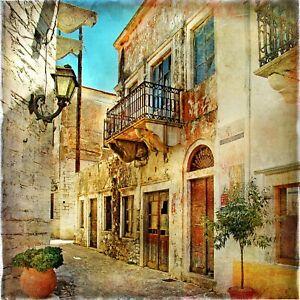 Reproduction 'Italian Street Balcony Scene' Poster